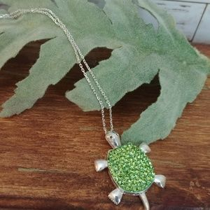 Jewelry - Sterling Silver Topaz Turtle Pendent
